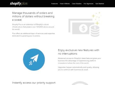 Shopify Plus Webpage