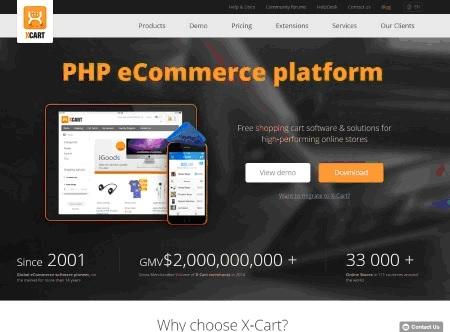 X-Cart Webpage