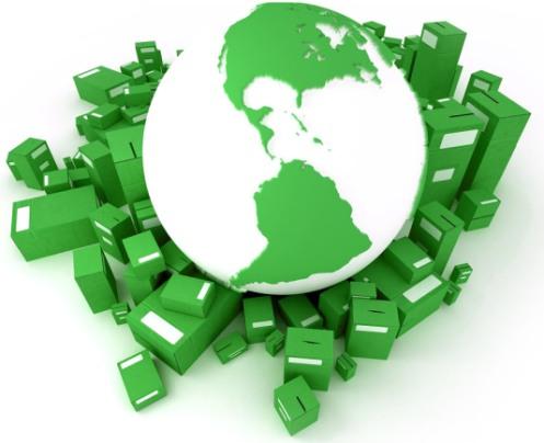 Growing Market for Green Logo