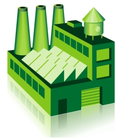 Eco Friendly Cooling Tower Illustration