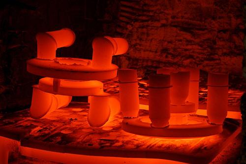 Inside of Industrial Furnace