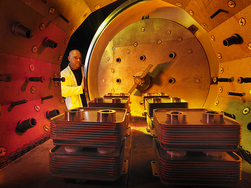 Inside Industrial Furnace