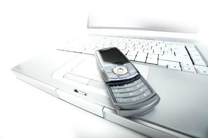 Keypad Phone & a Laptop